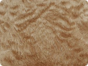 Teddy fabric, even, light brown