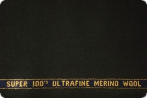 merino virgin wool, super 100, black, ca. 155cm