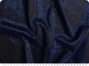 Knitted fabric with lurex & glitter, blue, 150cm