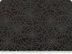 Nylon flocked, spiderweb, black on black