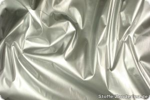 Gloss-paint fabric one-sided, silver, ca. 140cm