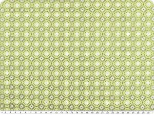 Nice cotton print,  flowers, light green, 142-145cm