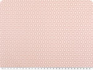 Nice cotton print, small ovals, pink, 142-145cm