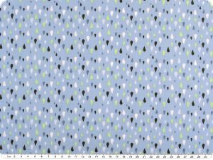 Mathilda's poplin fabric, drops, light bue, 142cm