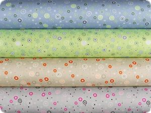 Mathilda's poplin fabric,  circles, light grey, 142-145cm