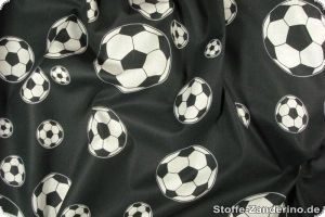 Football print, black-white, ca. 140cm