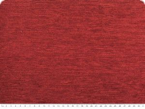 Durable upholstery fabric, chenille, orient red, 140cm