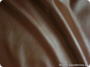 Artificial leather plain, brown, ca. 140cm