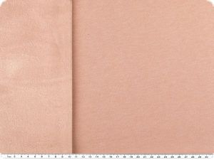 Sweat print with cuddle fleece, plain, beige red, 155cm