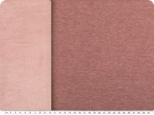 Sweat print with cuddle fleece, plain, berry, 155cm