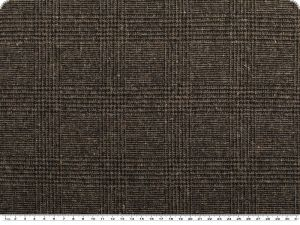 Highquality wool fabric, brown-black checkered, 160cm