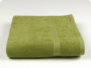 towel 100 x 50 cm green with shelves