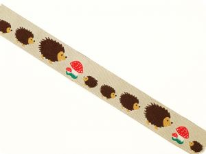 Woven�ribbon, border for decoration,�hedgehog,� multicoloure