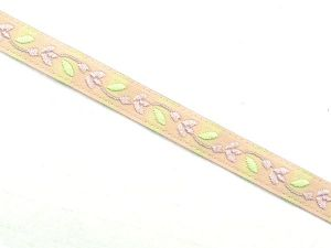 Jacquard ribbon,  for decoration, flowers, multicolour, 8mm