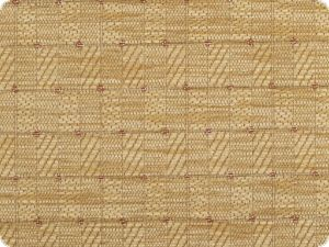 Chenille upholstery fabric, checks and dots, light brown