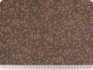 Chiffon-print, notes,dark brown, 150cm