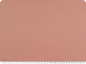 High-quality cotton fabric, small dots, rosé, 145cm