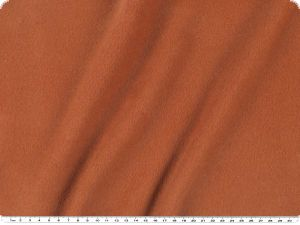 High-quality wool-fleece, color terracotta, width 150cm