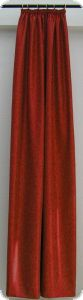 Deco scarf with curling up ribbon, 245 cm of x 135 cm, red