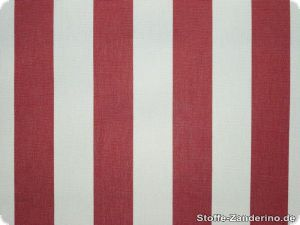 Awning cloth, teflon coated, red stripes, 160cm