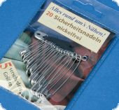 20 Safety pins , different sizes