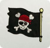 Appliqué, Jolly Roger, 5cm,  easy to iron on