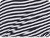 Cotton jersey, tubular fabric, navy blue-white, 70cm