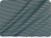 Cotton jersey, tubular fabric, black-sky blue, 70cm