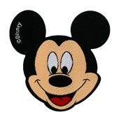 Appliqué, Mickey Mouse, Ø ca. 7 cm, to iron on