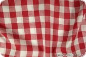 Cotton fabric with big checks ca. 1,8cm, red, 140cm