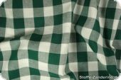 Leftover, Cotton fabric, checks, dark green,200x140cm,spots!