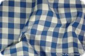 Cotton fabric with big checks ca. 1,8cm, blue, 140cm