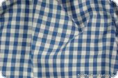 Cotton fabric with checks (1cm), blue, 140cm