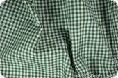 Cotton with small checks, ca. 4mm, green, 140cm