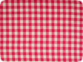 Cotton fabric, checked, pink, ca. 140cm
