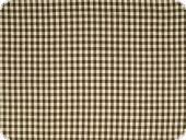 Cotton fabric, small squares, dark brown, 140cm