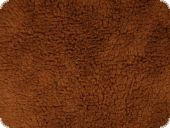 Curly teddy fabric, dark brown, 145cm