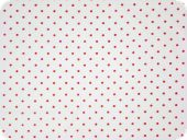 Printed cotton fabric with small dots, 2mm, whte-red, 140cm