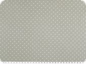 Cotton print with small dots, 2mm, light grey-ecru, 140cm