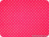 Printed cotton fabric, small dots, 2mm, pink-white, 140cm
