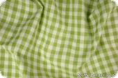Cotton fabric check, may green-white, ca. 1cm, 140cm