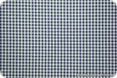 Cotton fabric with small squares 3mm, navy-white, 145cm
