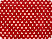 Cotton fabric with dots, red, ca. 135cm