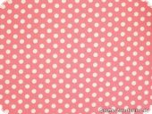 Cotton fabric with dots, rose, ca. 135cm