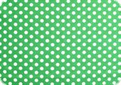 Cotton fabric with dots, green, ca. 135cm