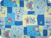 Princess with horse, patchwork-look, blue, 140cm