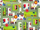 Children fabric, cars , multicolour, 140cm