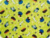 Fabric for children, animals, green-multicolour140cm