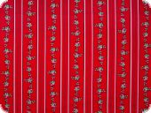 Nice cotton print, flowers and stripes, red, 140cm