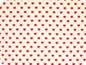 Cotton print, little hearts, red on white, 140cm